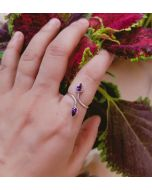 Beautiful Design 925 Sterling Silver Purple Gemstone Ring | Perfect gift for girls and women