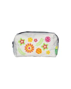 Floral Canvas Cotton Pouch
