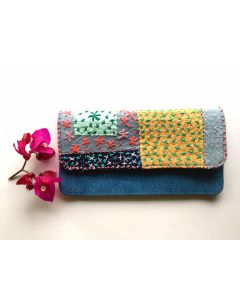 Flowery Crossways Wallet I Beautiful Pouch for Women and Girls I Clutches